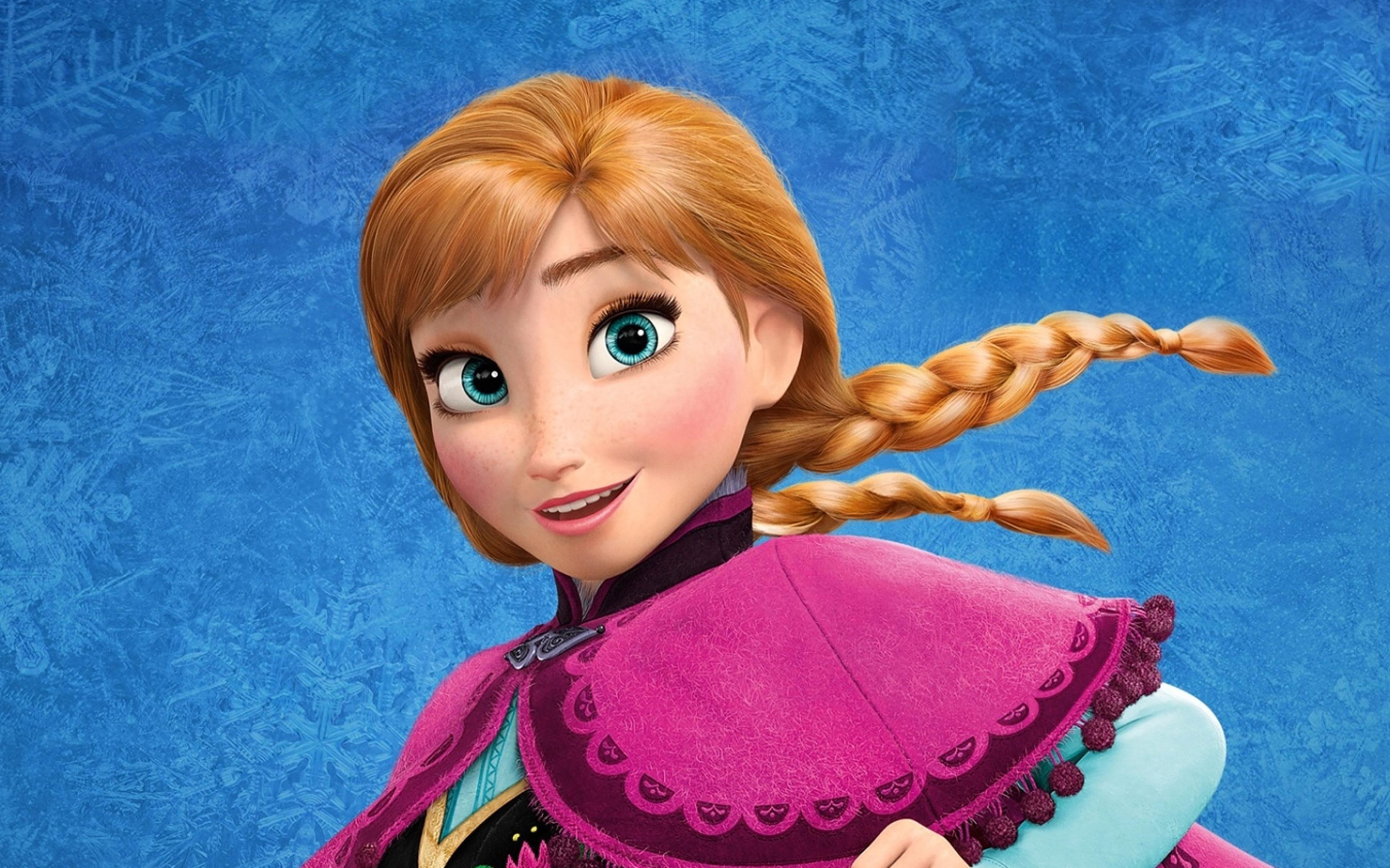 Ae50 Frozen Disney Princess Anna Of Arendelle Illust