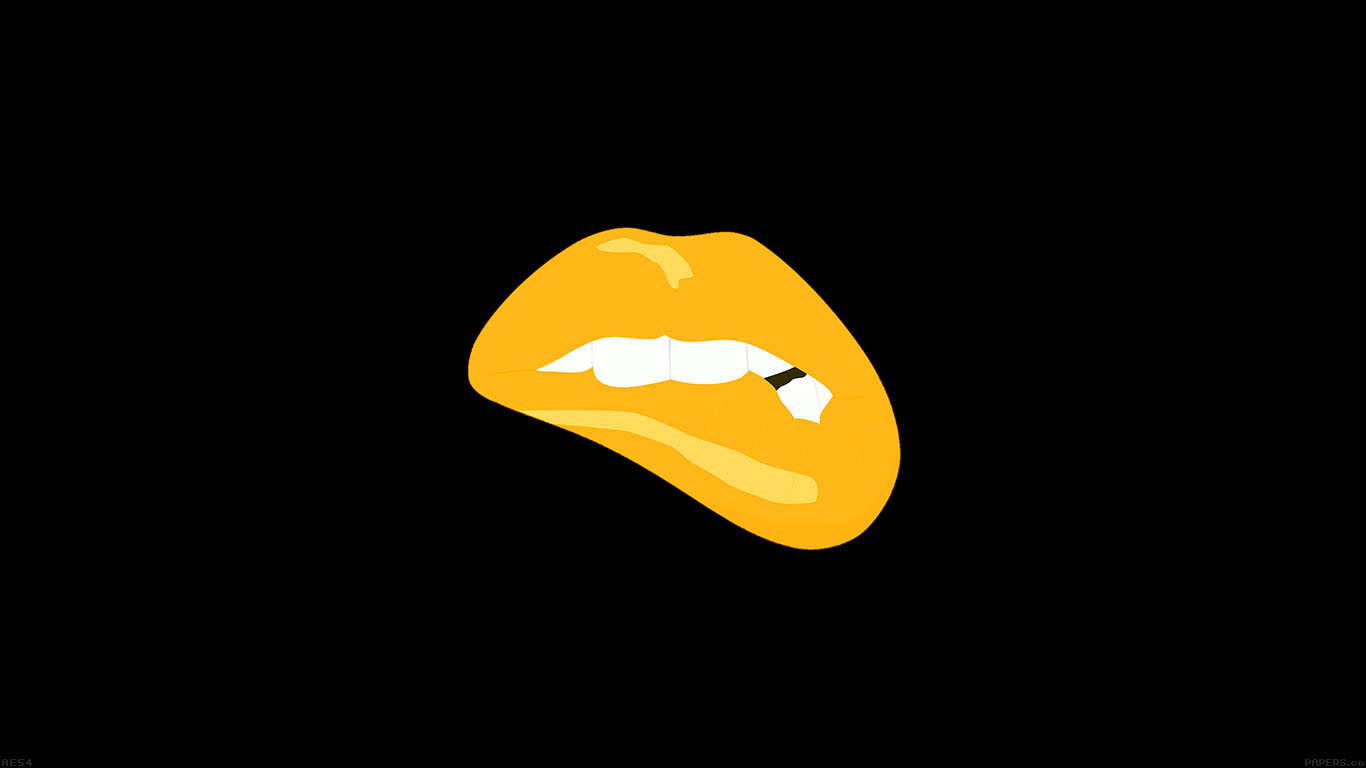 desktop-wallpaper-laptop-mac-macbook-air-ae54-biting-lips-gold-black-background-minimal-art-wallpaper