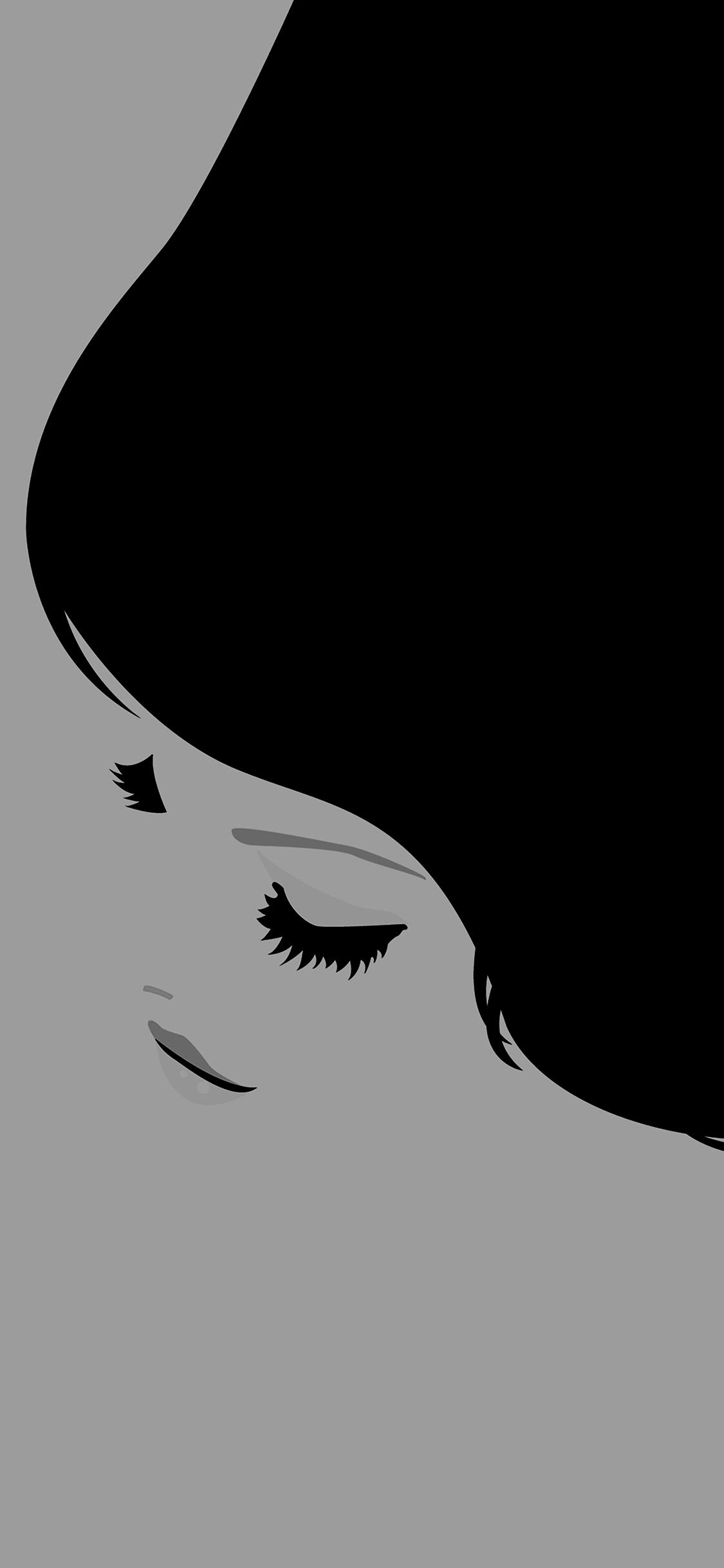 iPhoneXpapers.com-Apple-iPhone-wallpaper-ae65-smile-girl-simple-minimal-illust