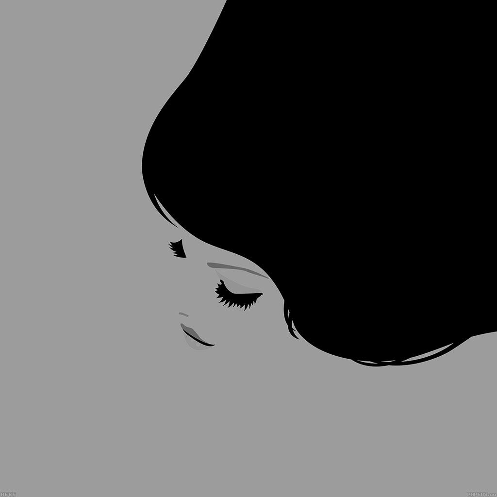 android-wallpaper-ae65-smile-girl-simple-minimal-illust-wallpaper