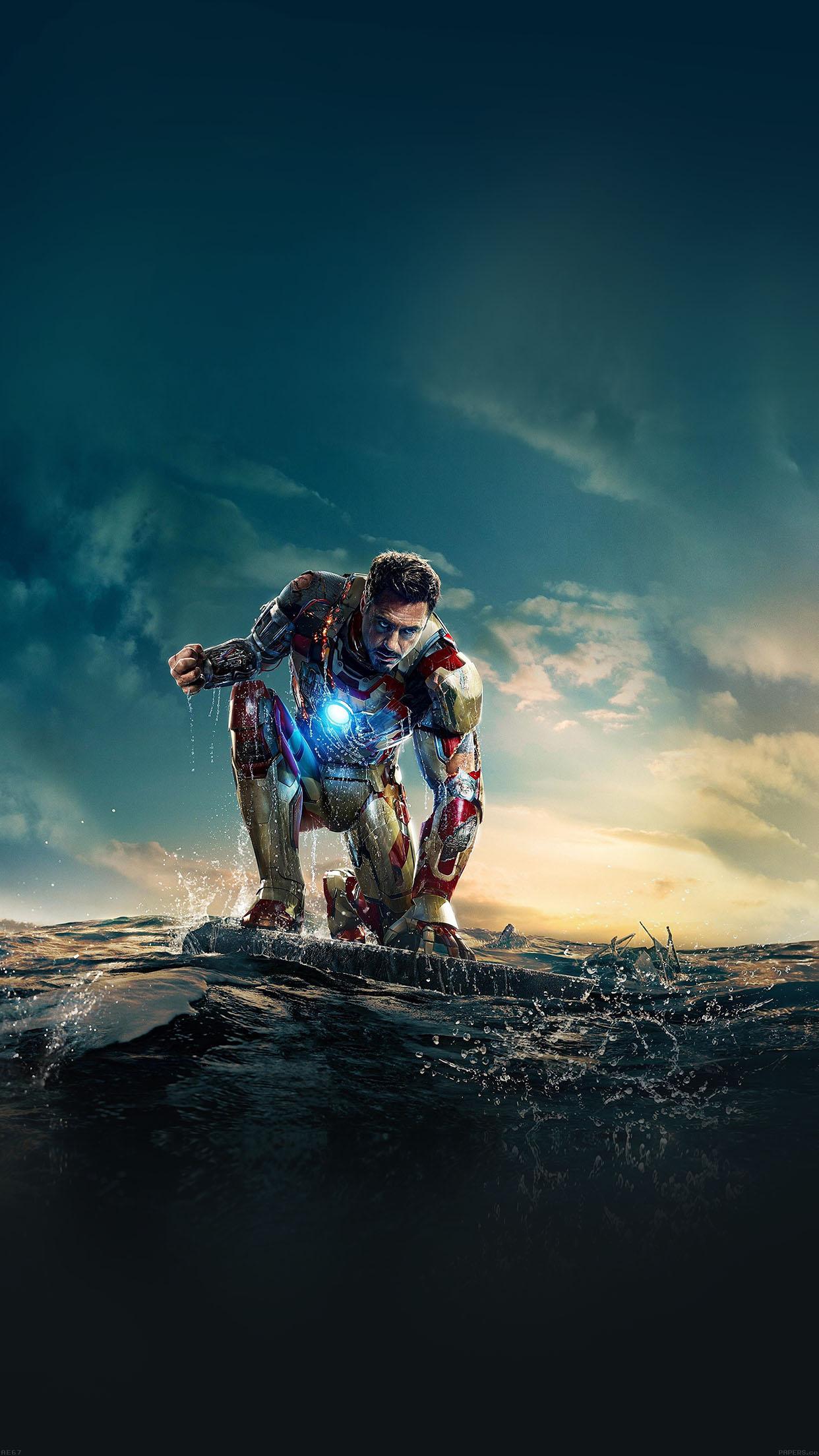 Ae67 Ironman Angry In Hero Poseture Art