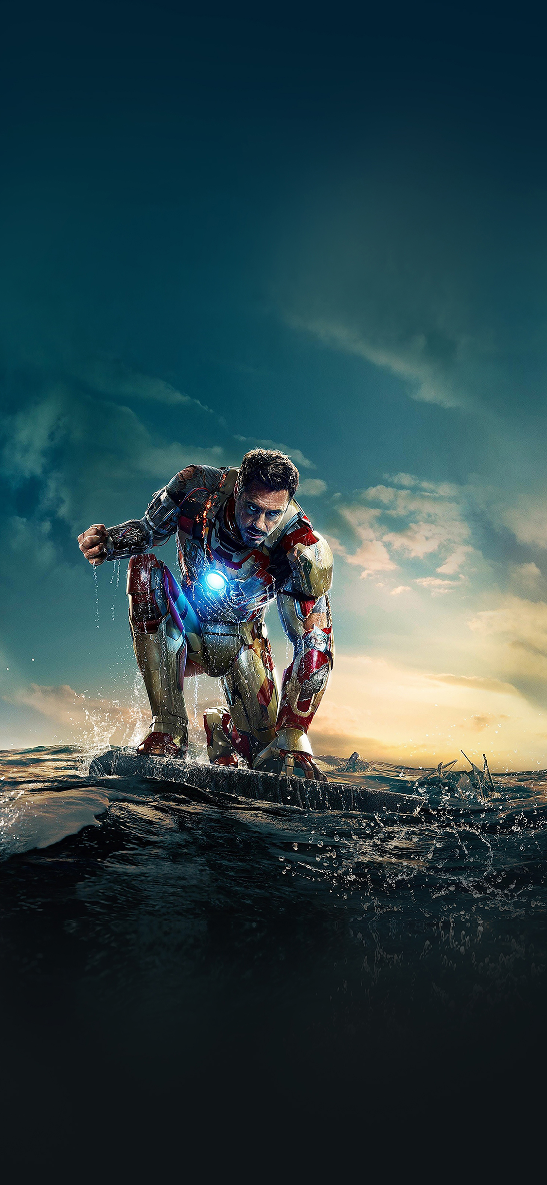 Iphonexpapers Ae67 Ironman Angry In Hero Poseture Art