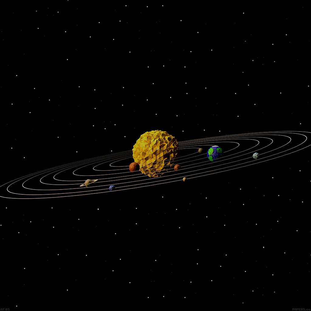 Paper solar system