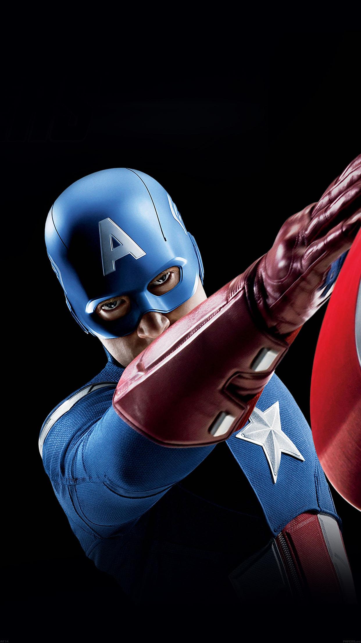 Moto G Plus >> af14-avengers-captain-america-illust-art-portrait - Papers.co