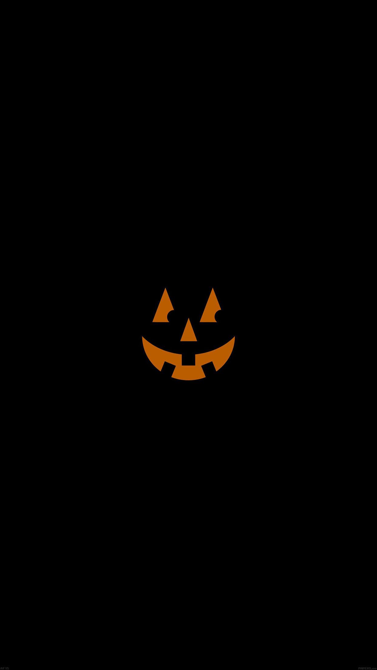 Iphonepapers Af15 Pumpkin Smile Halloween Minimal