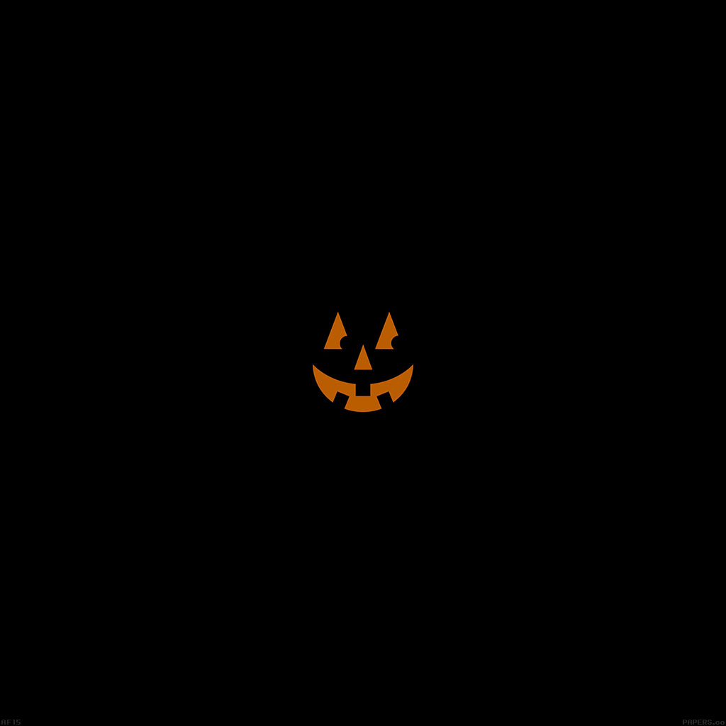 papers.co | android wallpaper | af15-pumpkin-smile-halloween-minimal