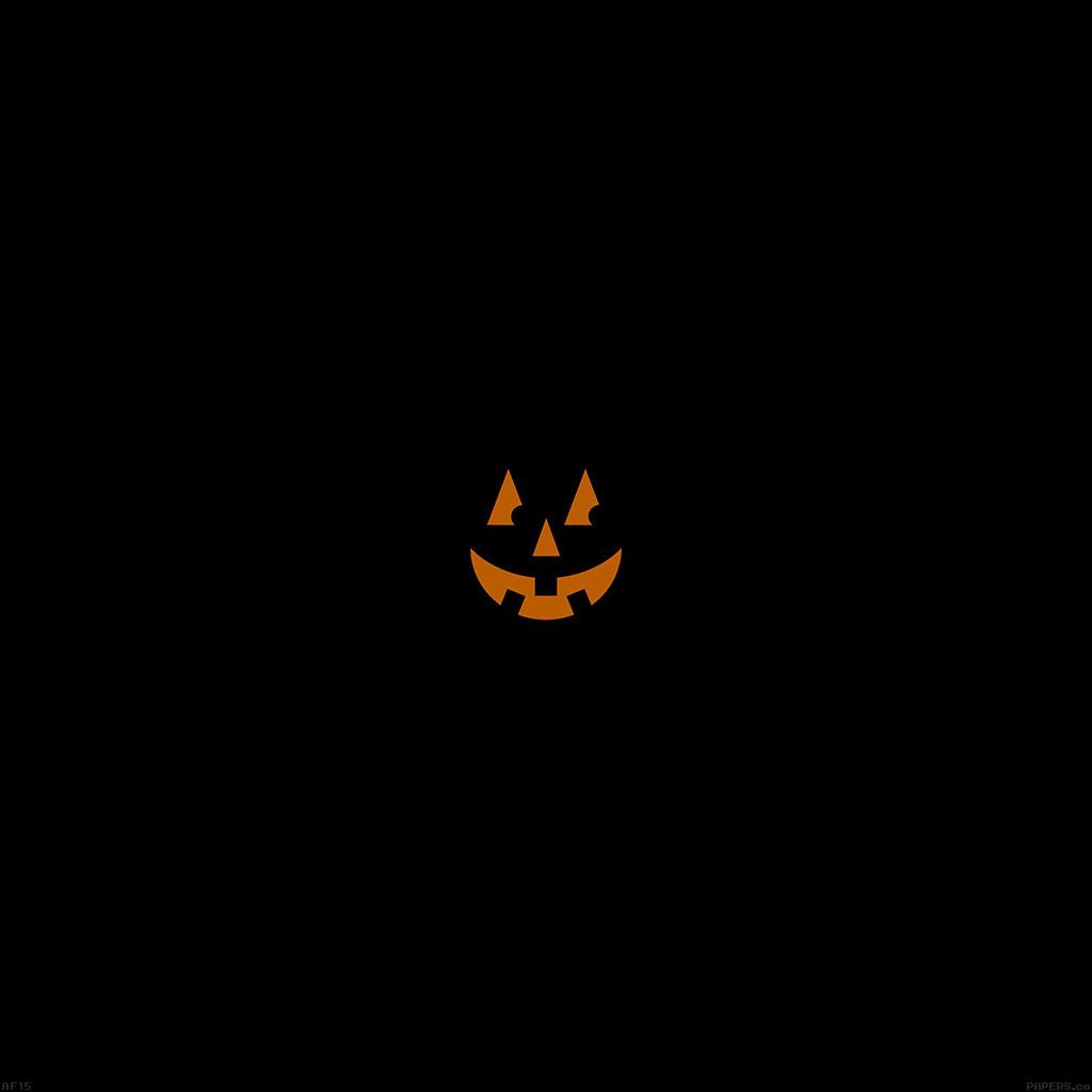 Papersco Ipad Wallpaper Af15 Pumpkin Smile Halloween