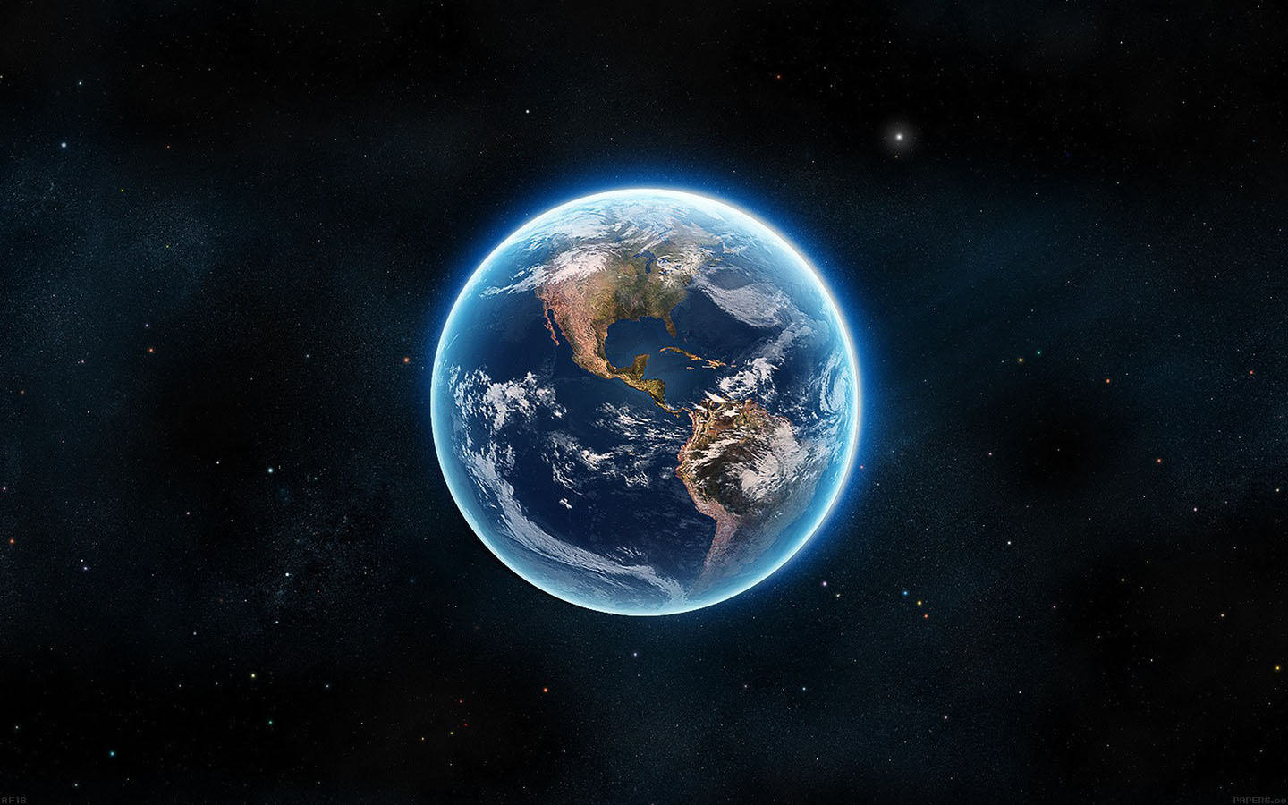 Af18 Earth View From Space Satellite Illust Art Wallpaper