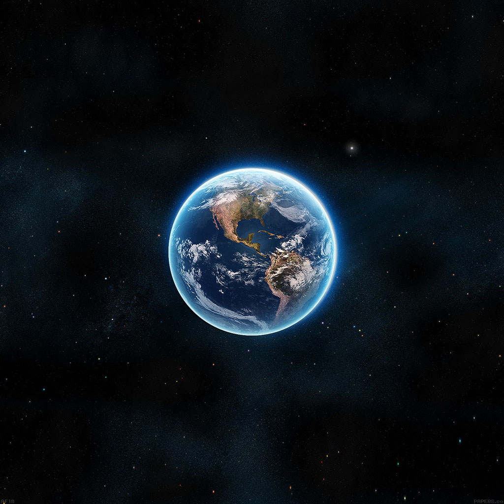 Google Earth Wallpaper: Af18-earth-view-from-space