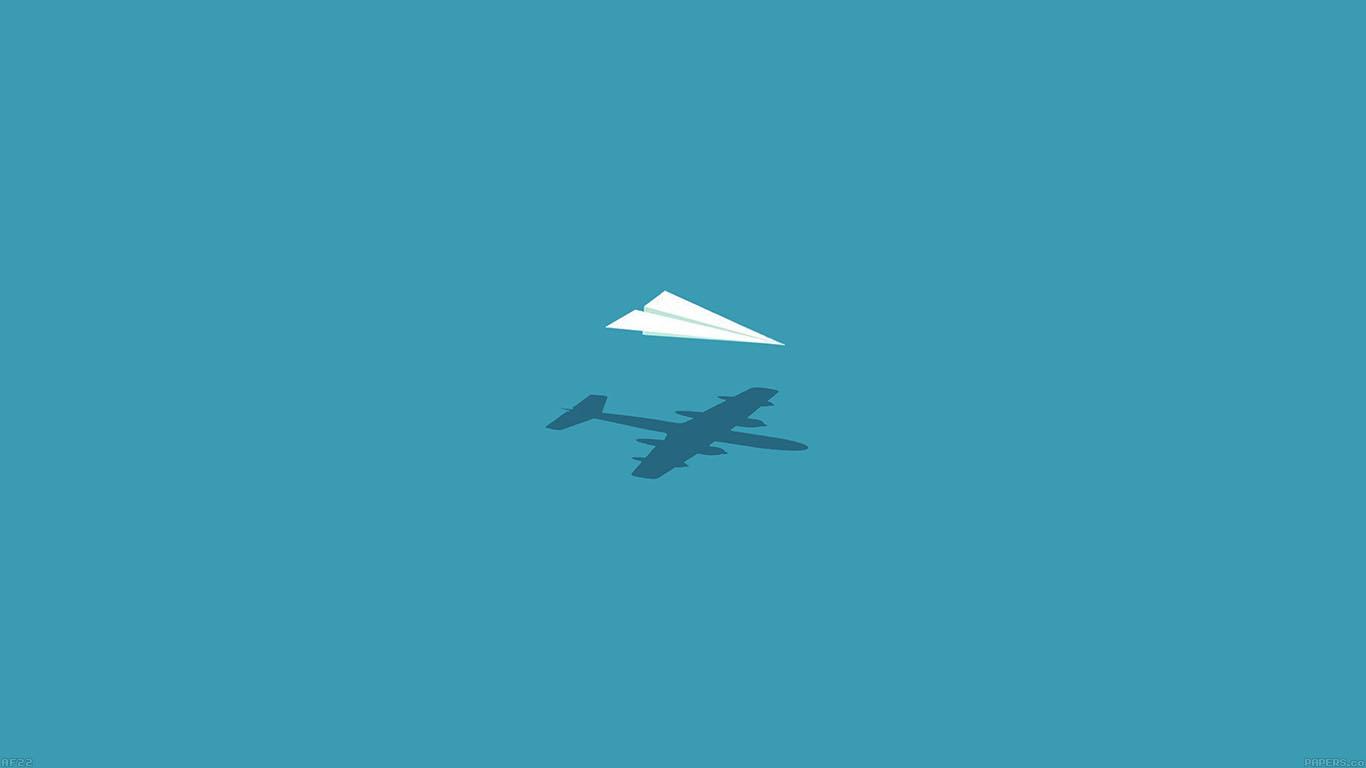 Af22 Rc Plane Minimal Blue Art Illust Cute Papers Co