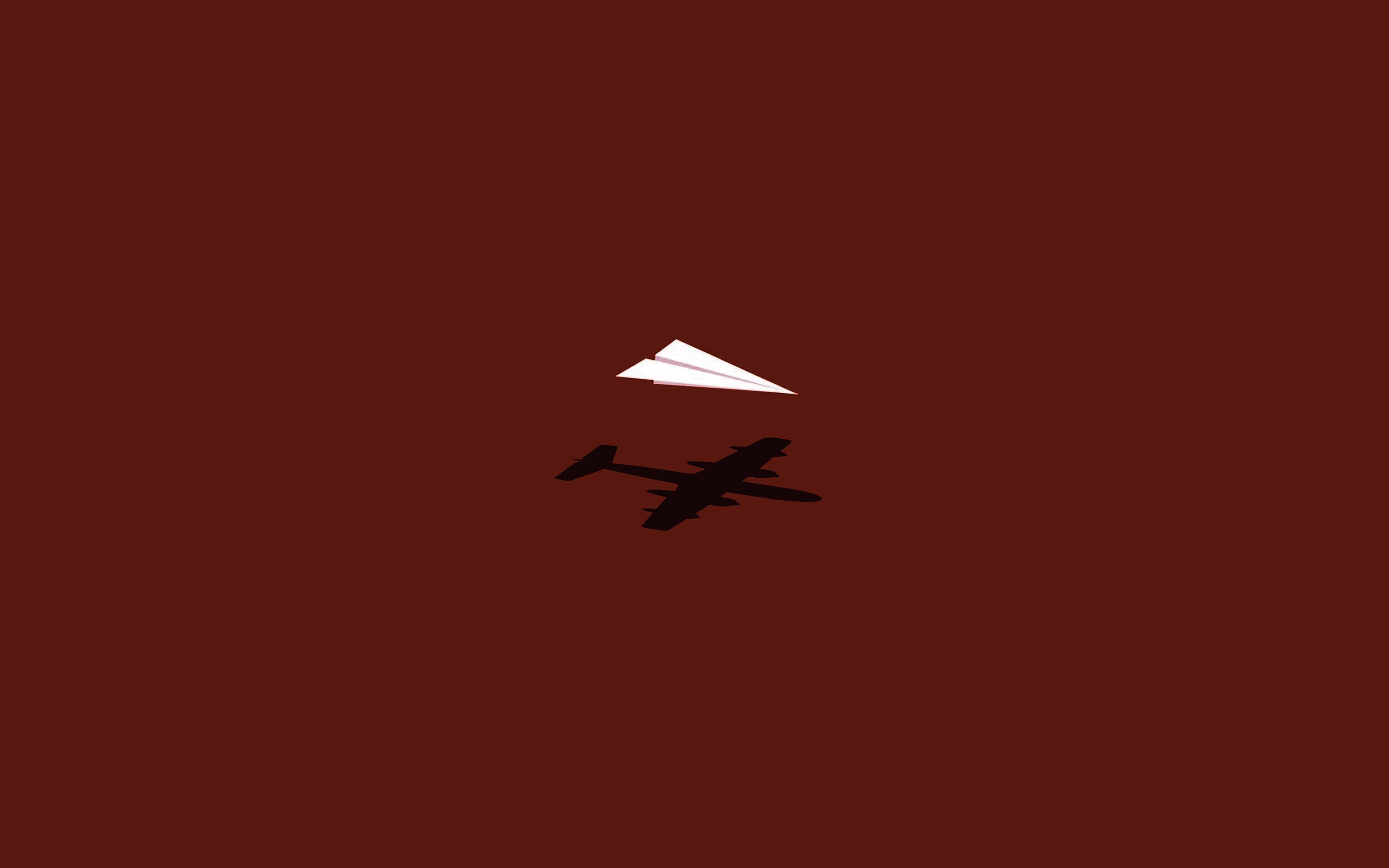 Minimalist Parallax Hd Iphone Ipad Wallpaper: Af23-rc-plane-minimal-red-art-illust-cute