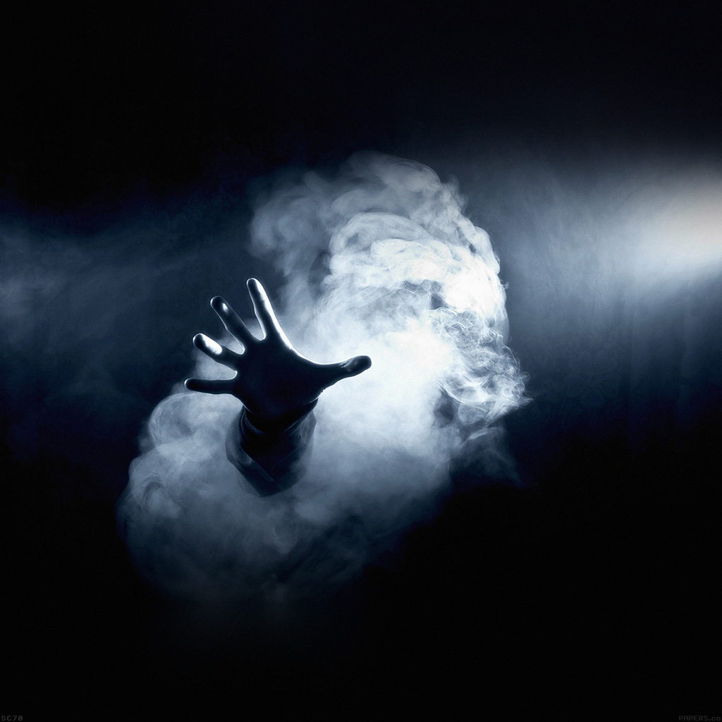 android-wallpaper-af33-hand-from-smoke-dark-wallpaper