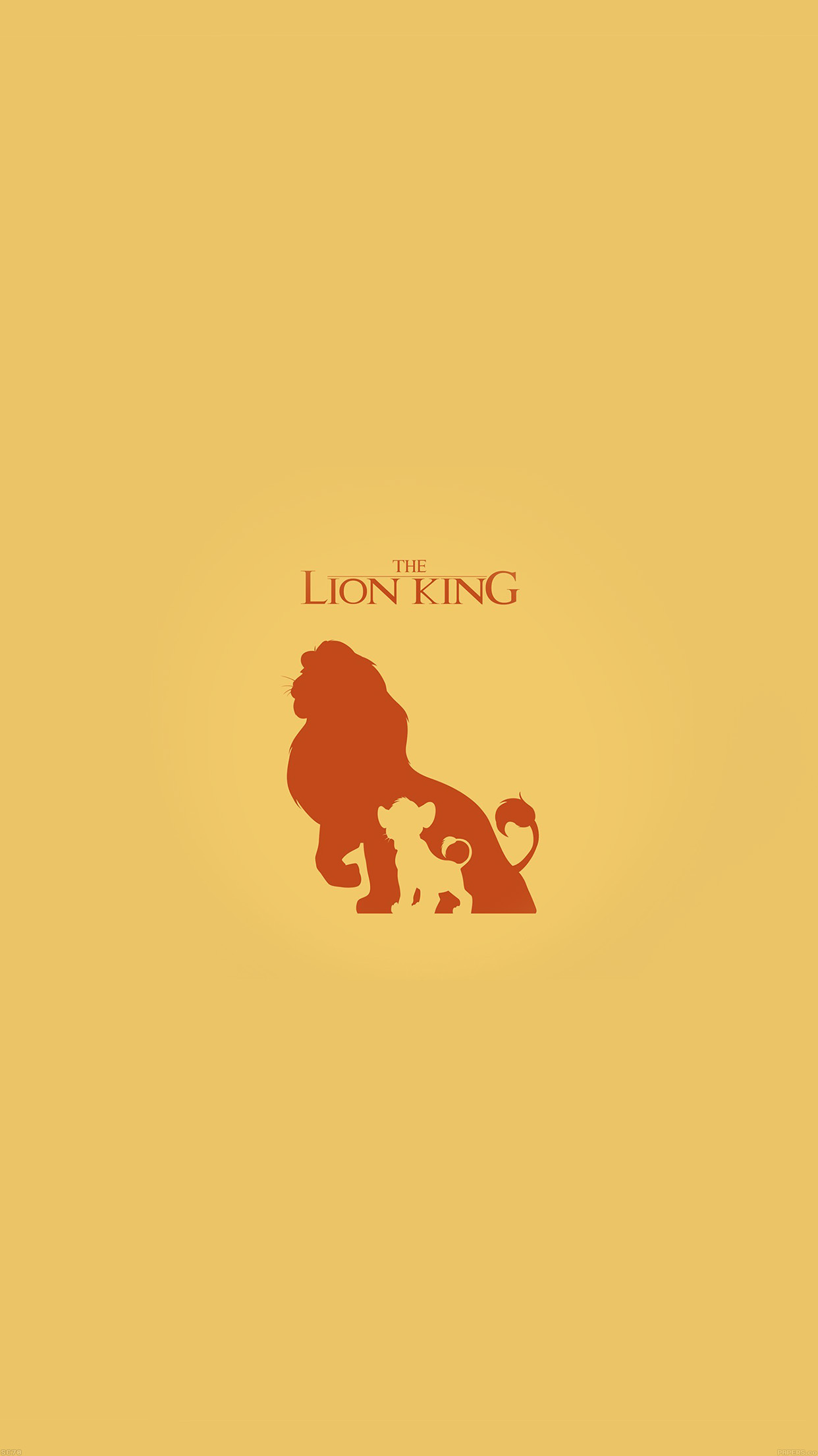 Iphone7papers Af42 The Lion King Minimal Art