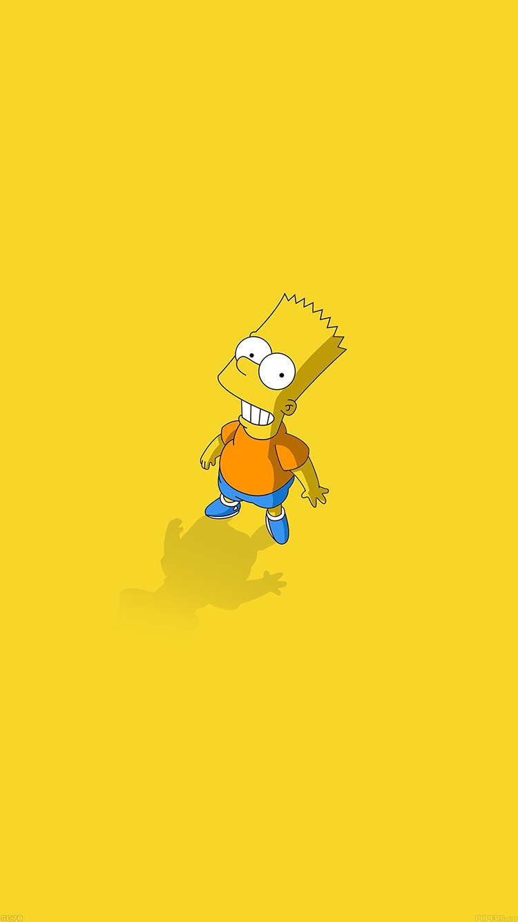 Papers.co-iPhone5-iphone6-plus-wallpaper-af48-hi-i-am-bart-simpsons-minimal-cartoon