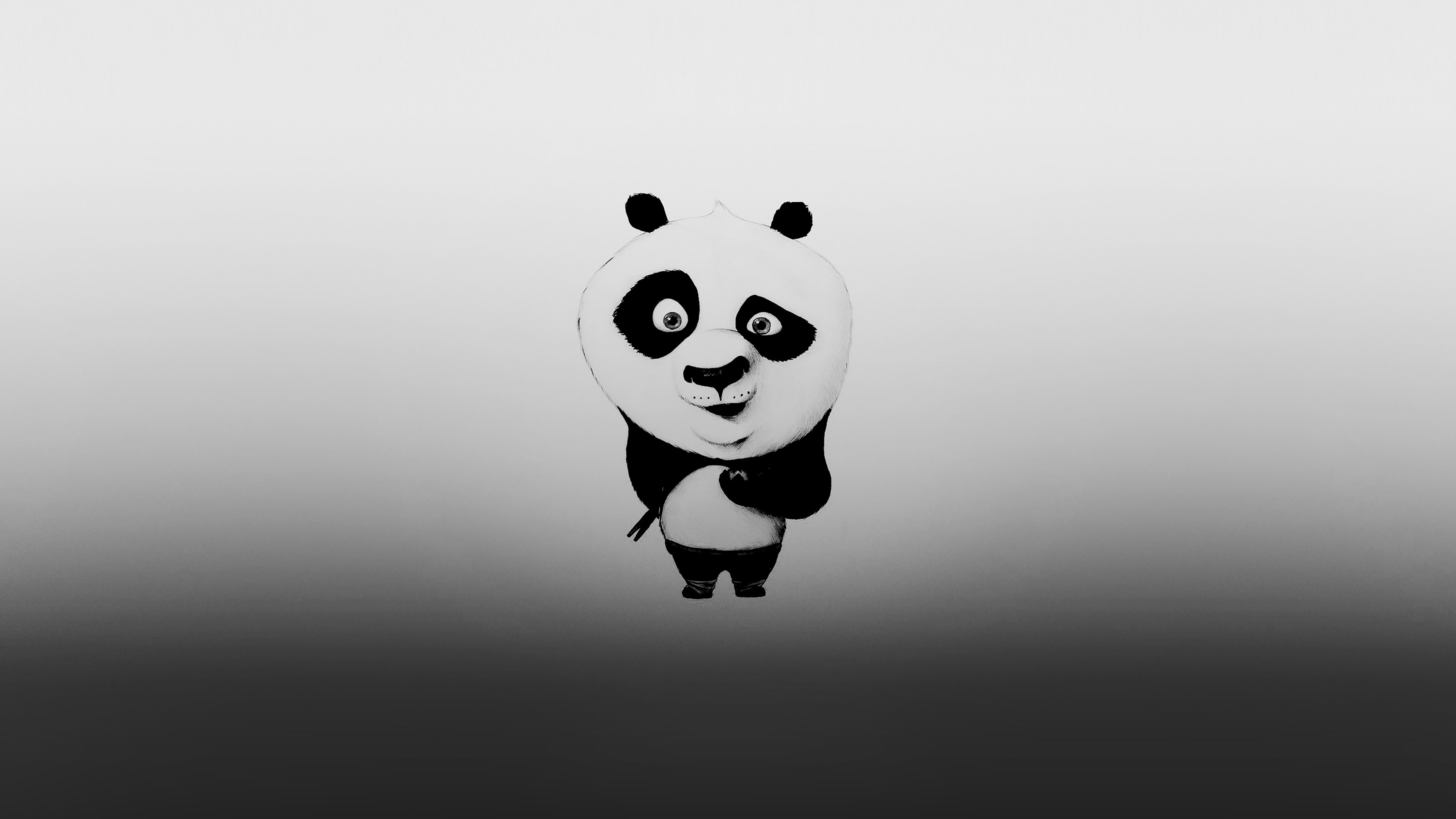 Wallpaper For Desktop Laptop Af59 Kungfu Panda Minimal Funny Cute