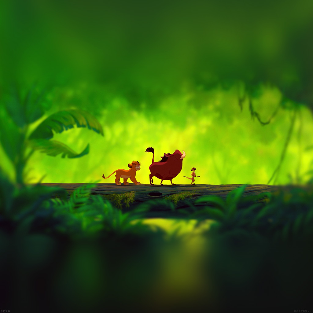 Papers Co Android Wallpaper Af60 Lionking Hakuna Matata Cartoon