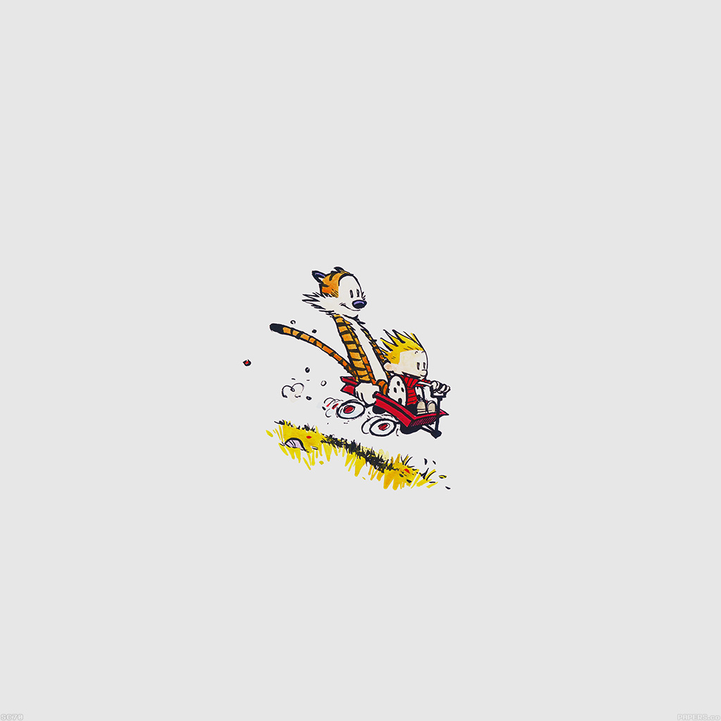 Papers Co Android Wallpaper Af62 Calvin Hobbes Happy Times Cartoon