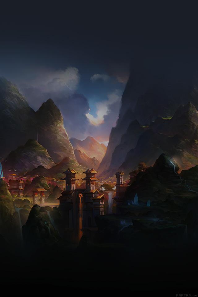 freeios7.com-iphone-4-iphone-5-ios7-wallpaperaf68-mountain-art-illust-china-anime-peaceful-iphone4