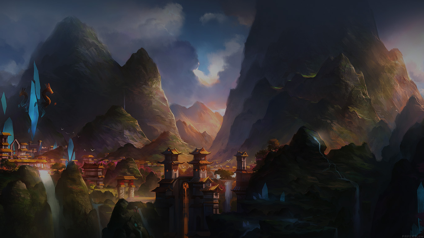 iPapers.co-Apple-iPhone-iPad-Macbook-iMac-wallpaper-af68-mountain-art-illust-china-anime-peaceful-wallpaper
