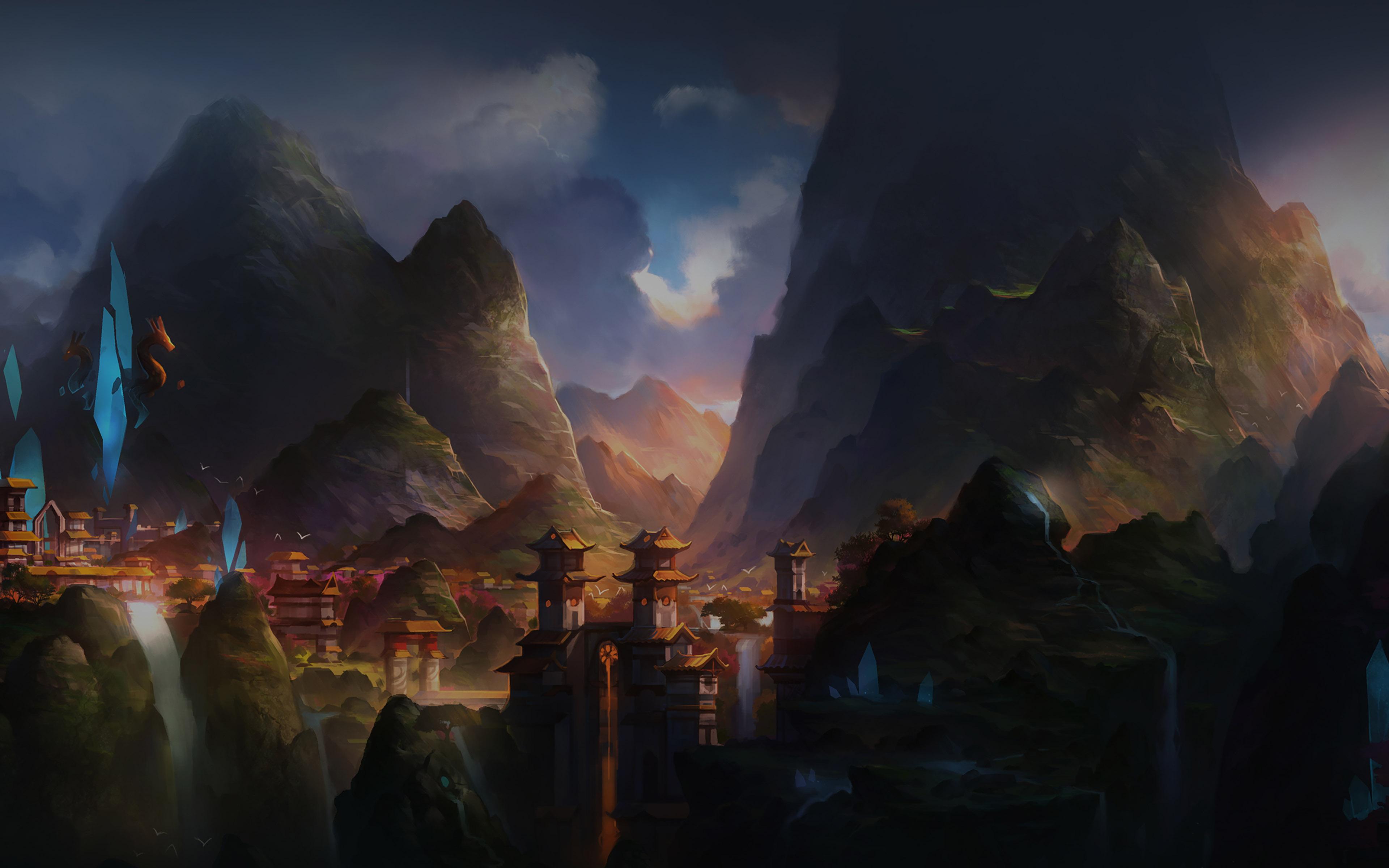 Af68 Mountain Art Illust China Anime Peaceful