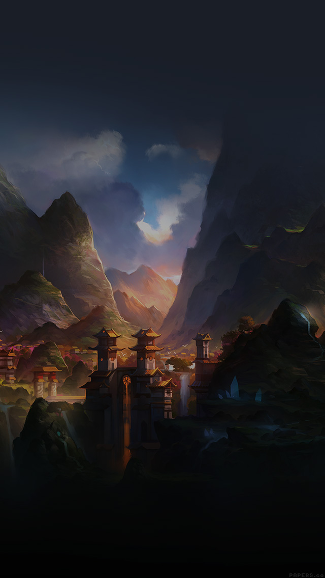 Iphone6papers Af68 Mountain Art Illust China Anime Peaceful