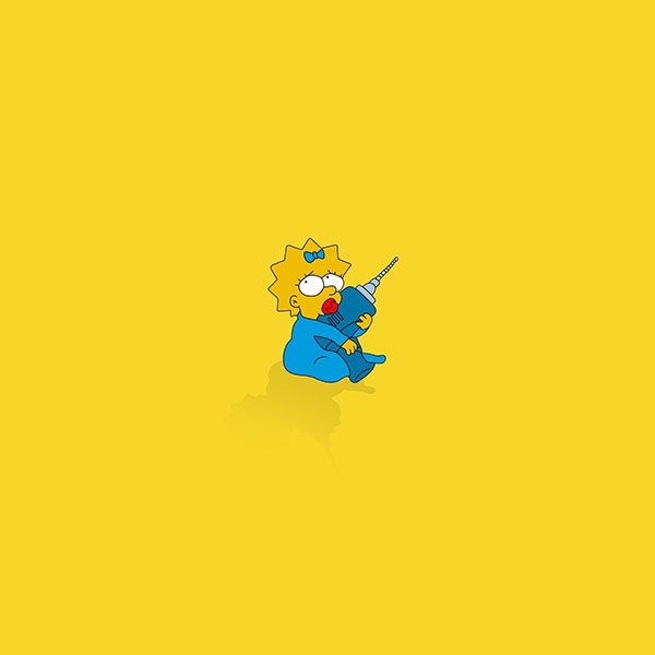 iPapers.co-Apple-iPhone-iPad-Macbook-iMac-wallpaper-af69-simpsons-maggie-cute-illust-cartoon-art-wallpaper