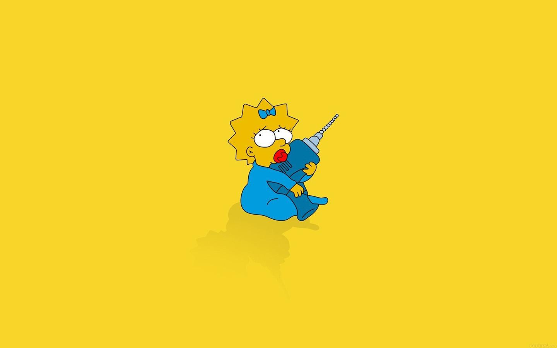 Af69 Simpsons Maggie Cute Illust Cartoon Art