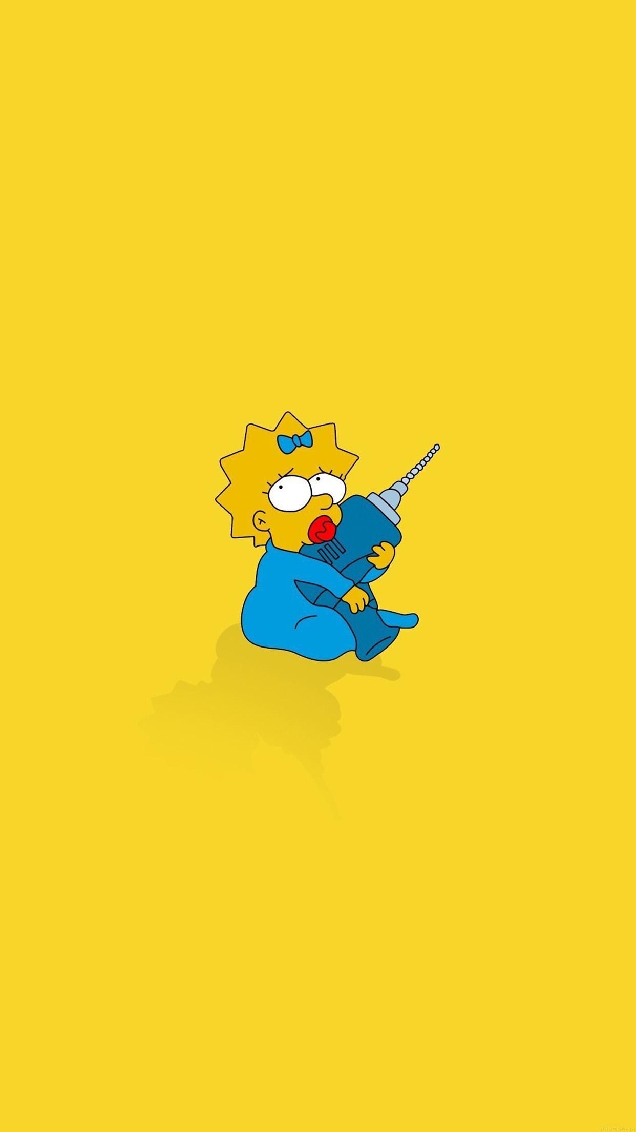 Iphone7papers Af69 Simpsons Maggie Cute Illust Cartoon Art