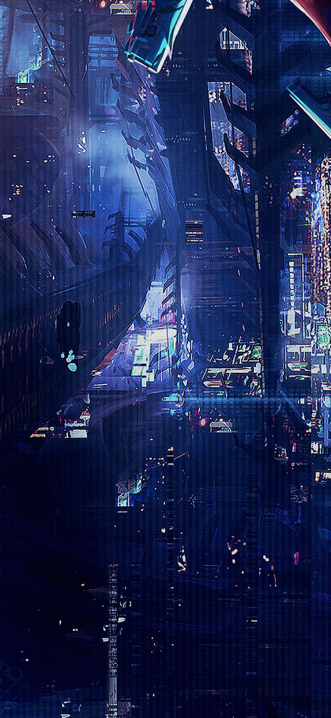 Iphonexpapers Af77 Digital World Anime Art Illust Urban