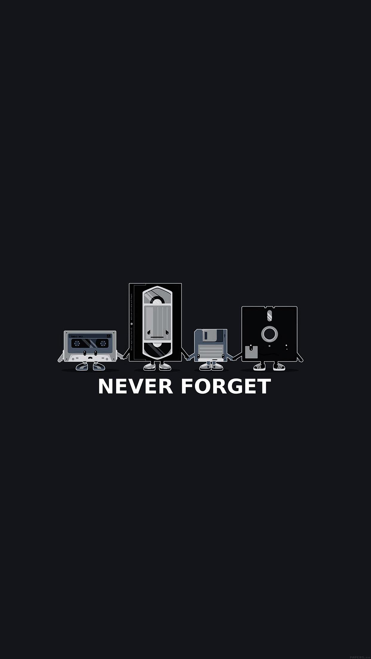 Af82 Never Forget Floppy History Dark Cute Illust