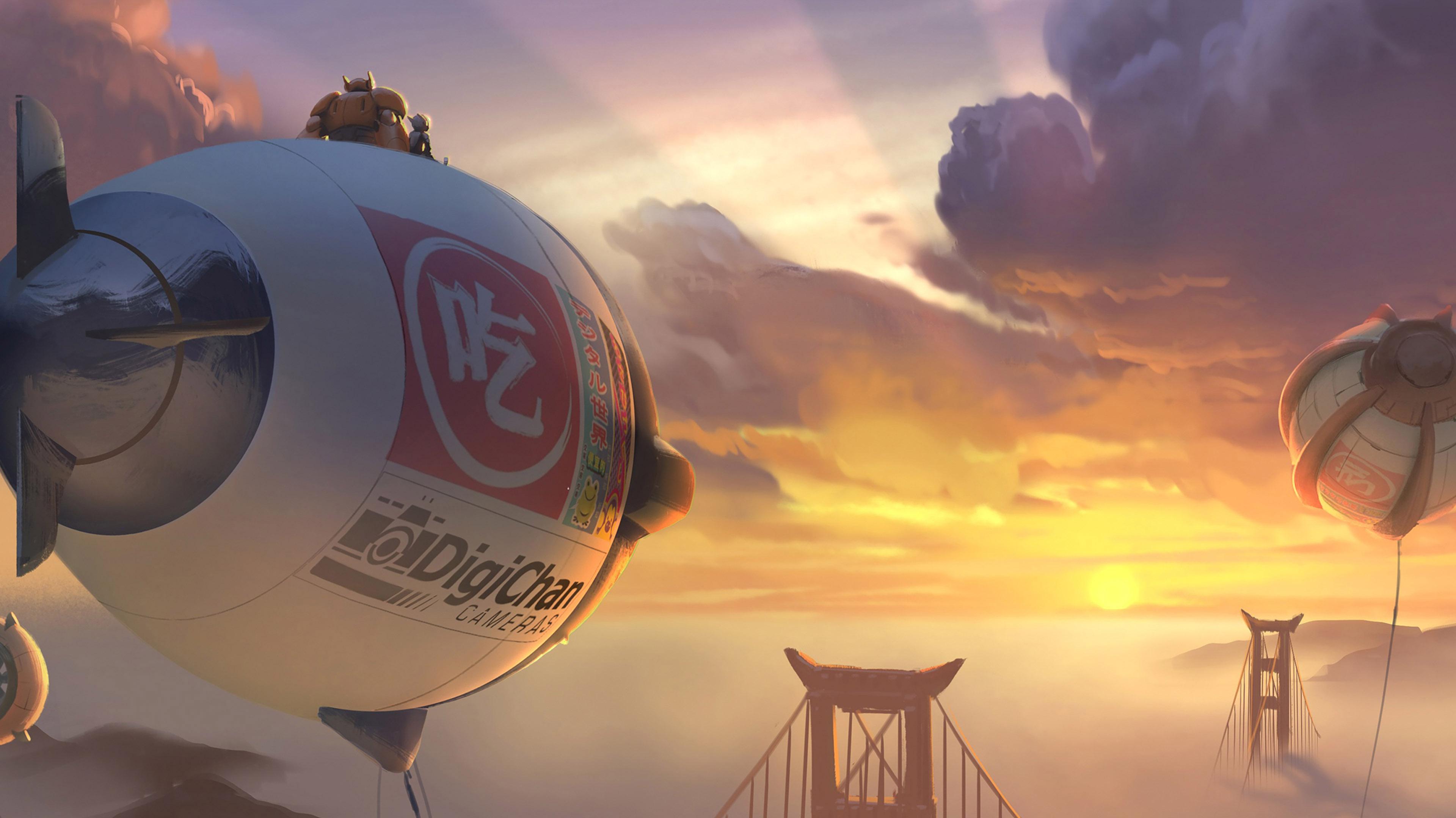 Af88 Big Hero 6 Fly Air Disney Art Illust Papers Co