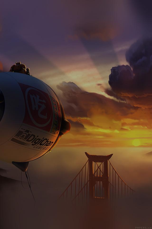 Freeios8 Af89 Big Hero 6 Fly Air Dark Disney Art Illust