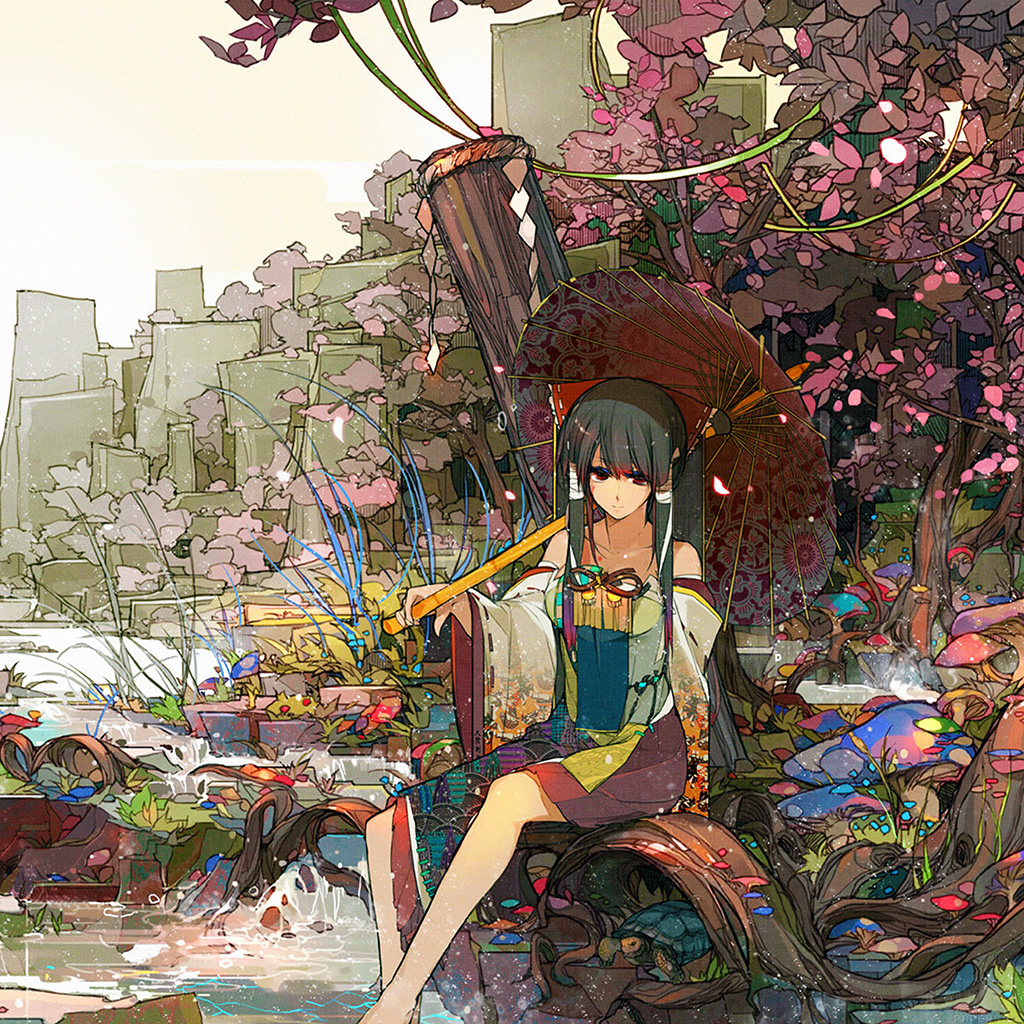 android-wallpaper-ag03-sakura-sora-illust-anime-art-wallpaper