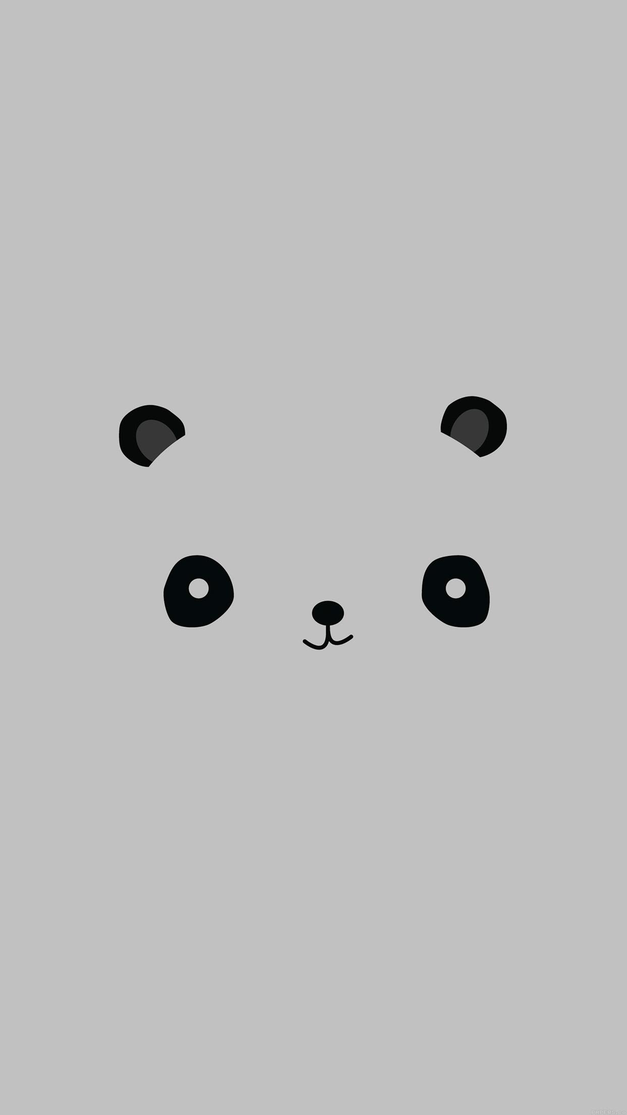 Iphone7papers Ag16 Cute Minimal Panda Illust Art