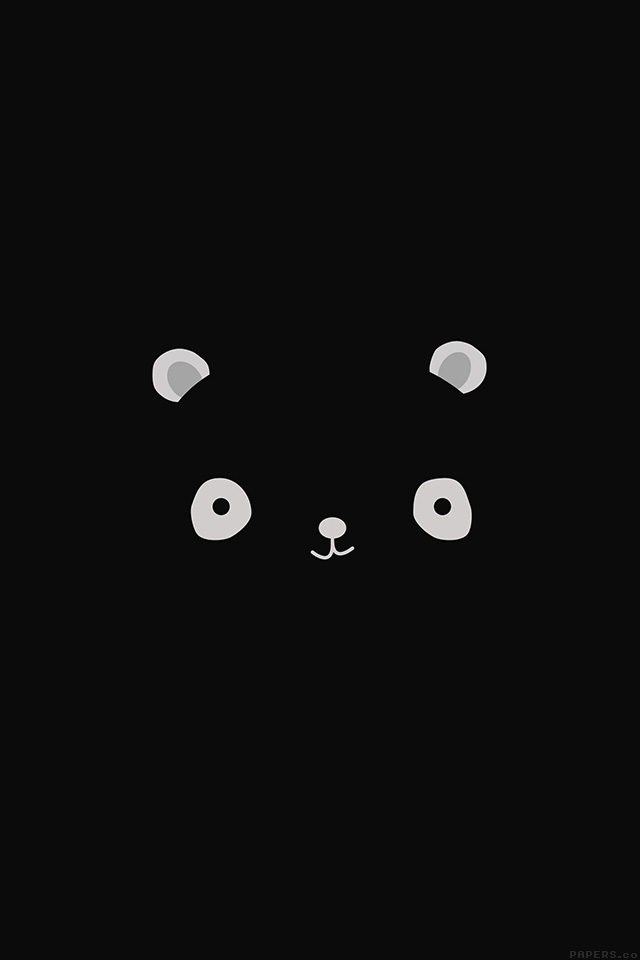 Freeios8 Ag17 Cute Minimal Panda Dark Illust Art