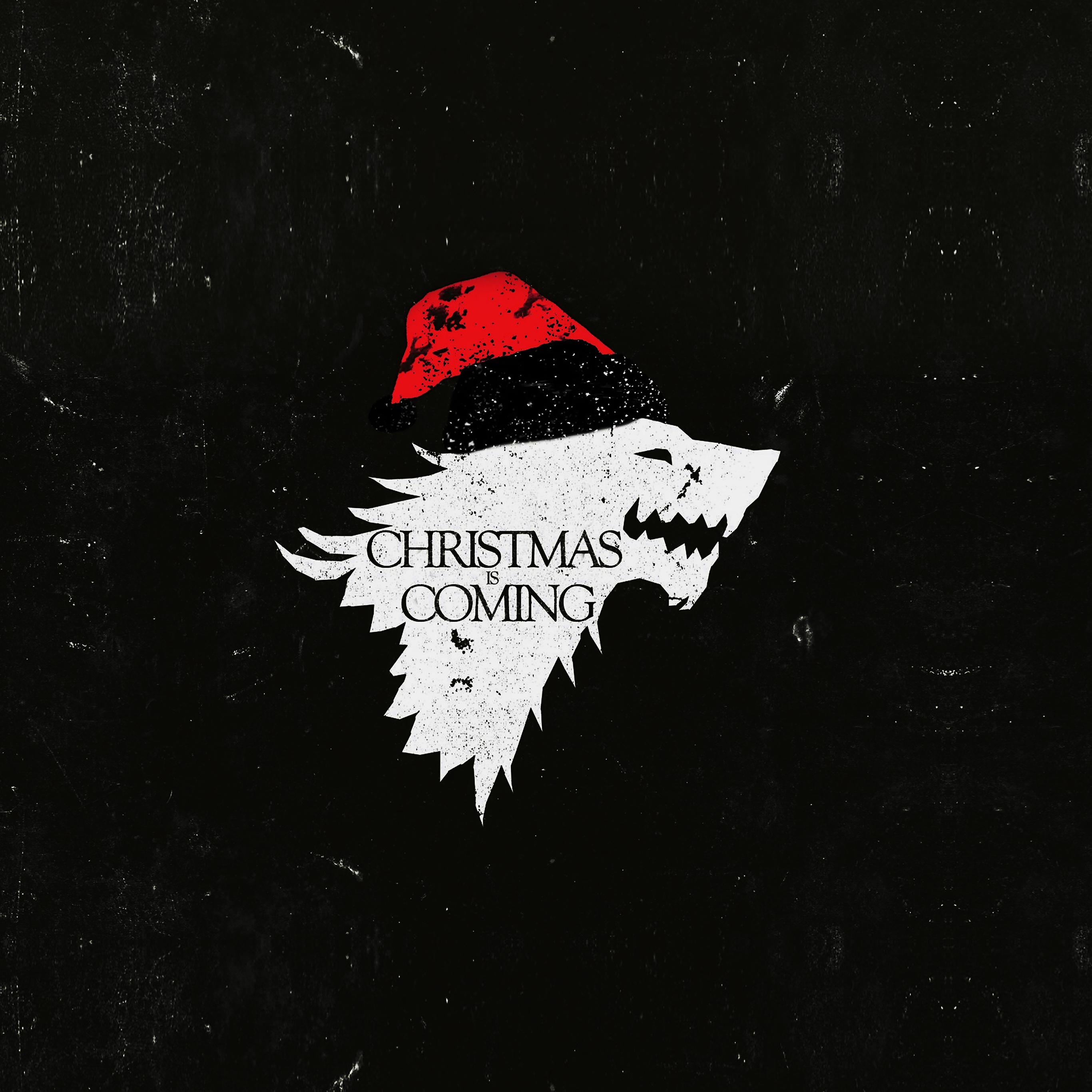 Ag24 Christmas Is Coming Dark Game Of Thrones Art Wallpaper
