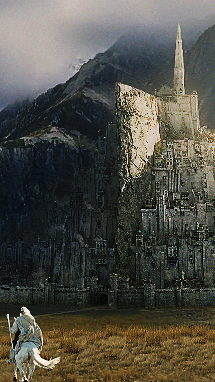 Papers.co-iPhone5-iphone6-plus-wallpaper-ag25-minas-tirith-lord-of-the-ring-art