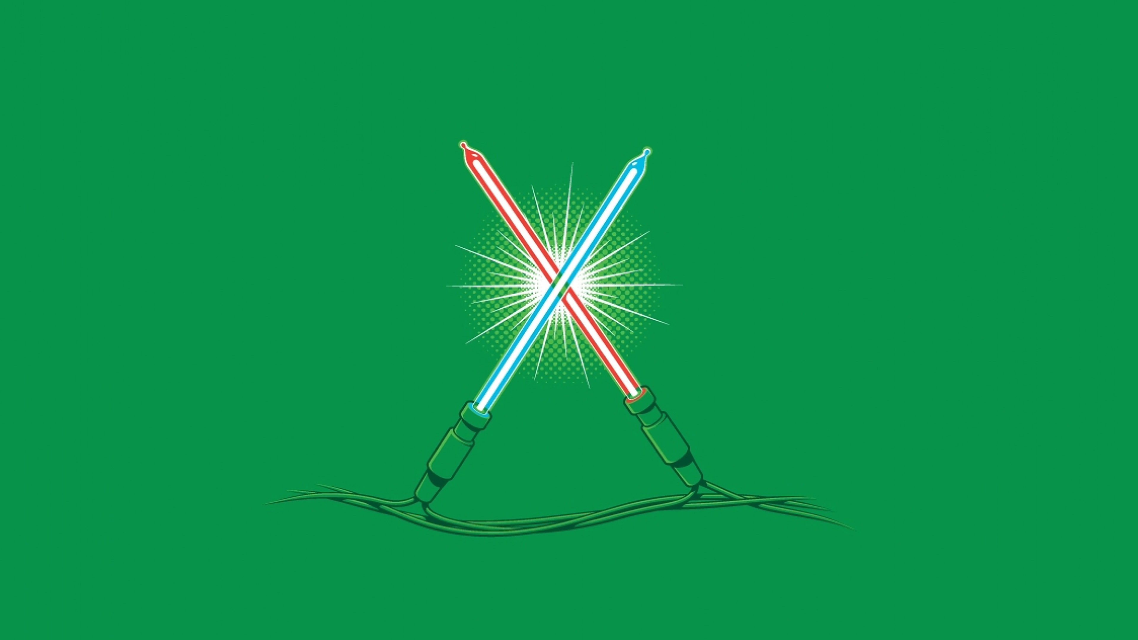 Ag26 Christmas Lights Illust Minimal Starwars Art Wallpaper