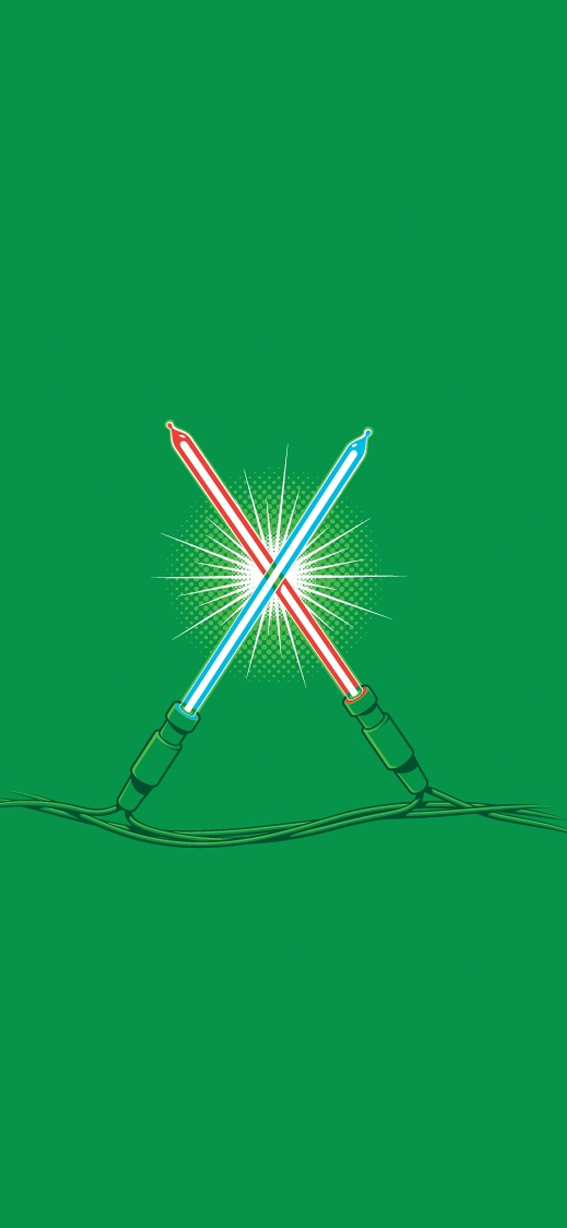 iPhoneXpapers.com-Apple-iPhone-wallpaper-ag26-christmas-lights-illust-minimal-starwars-art