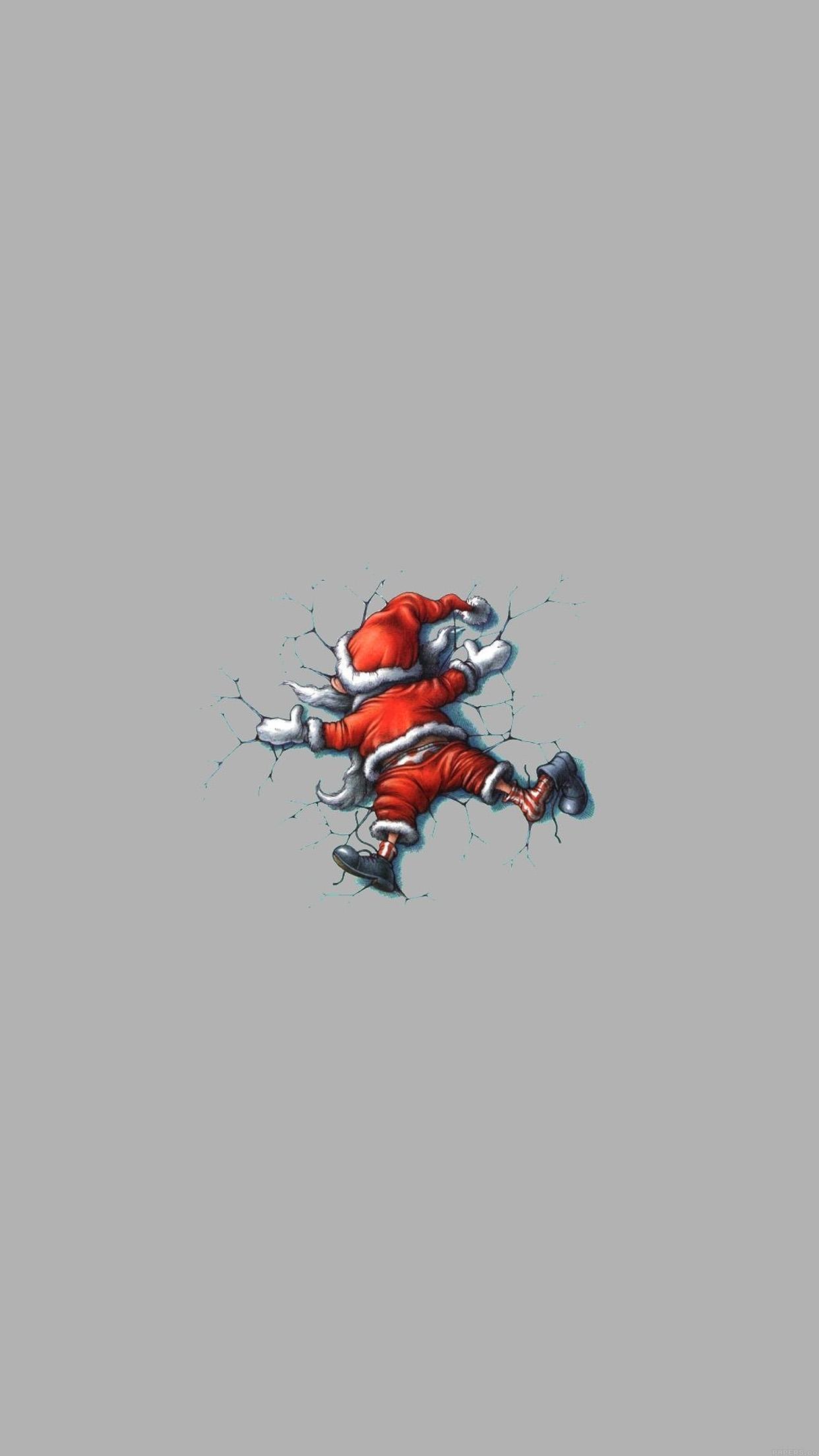 Iphonepapers Ag32 Funny Christmas Santa Illust Art