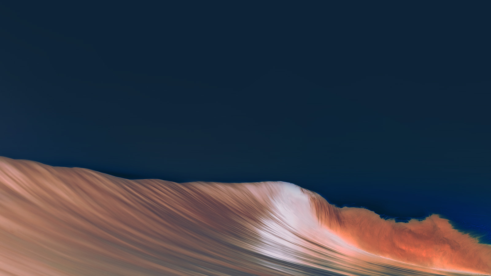Ag49 Rolling Wave Art Dark Simple Minimal Wallpaper