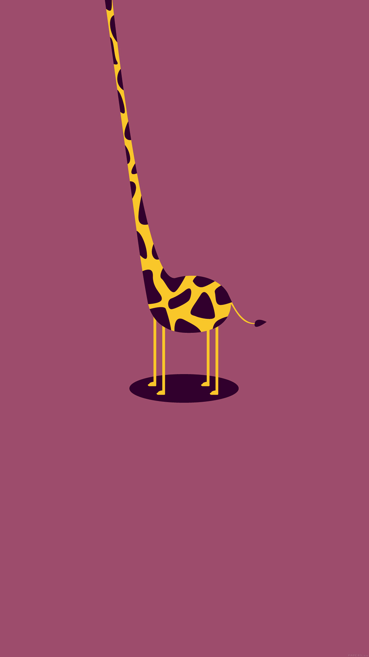 Ag51 Giraffe Cute Minimal Simple Papers Co