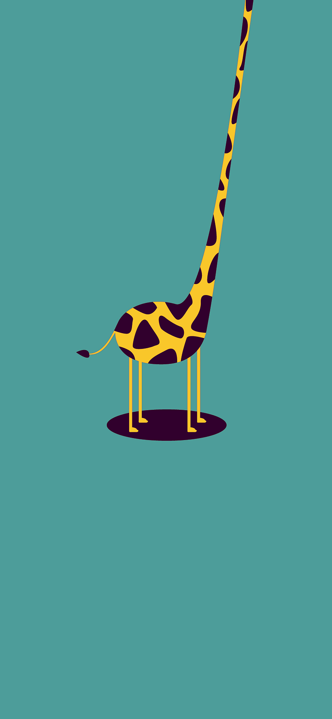 Iphonexpapers Com Iphone X Wallpaper Ag52 Giraffe Cute Blue