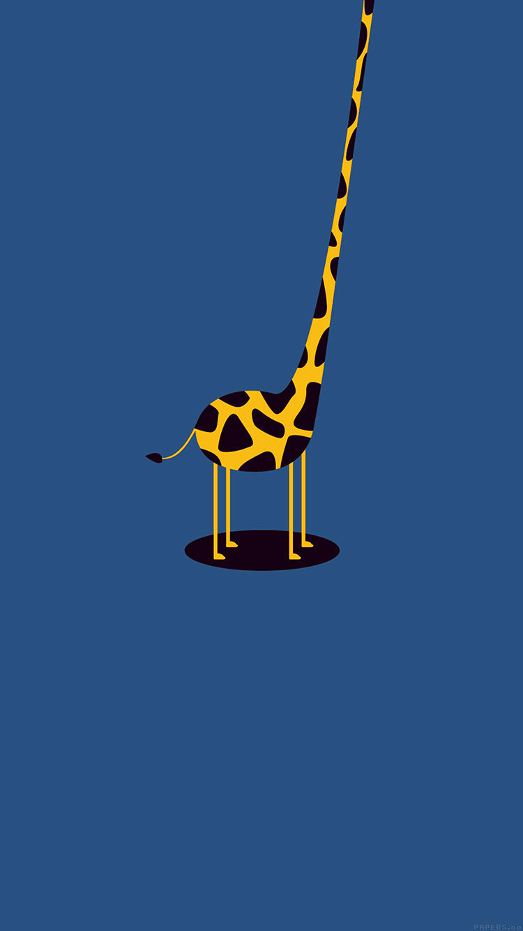 Papers.co-iPhone5-iphone6-plus-wallpaper-ag53-giraffe-cute-blue-tall-minimal-simple