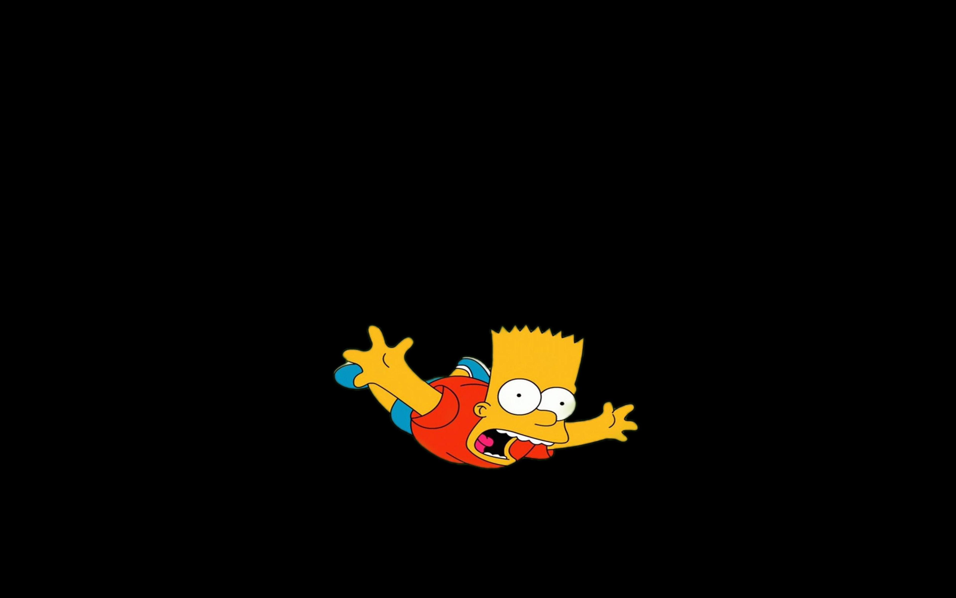 Ag70 Bart Simpson Funny Cute Illlust Papersco