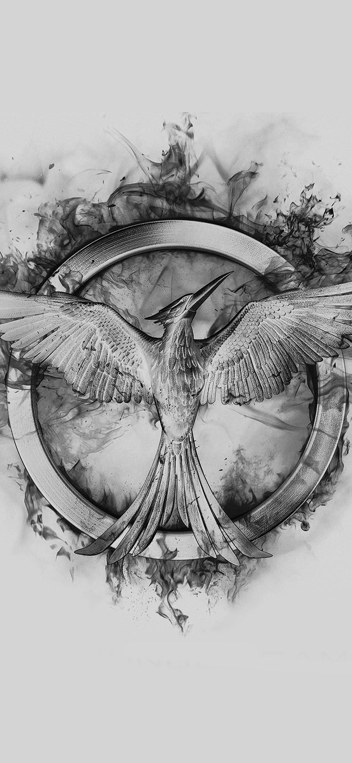 iPhonexpapers.com-Apple-iPhone-wallpaper-ag76-hunger-games-mockingjay-black-logo-art