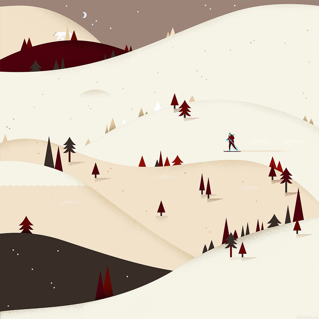illustration minimal mountain pattern