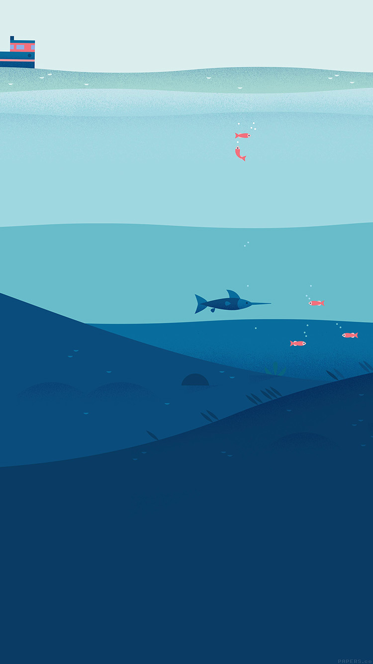 illustration minimal sea