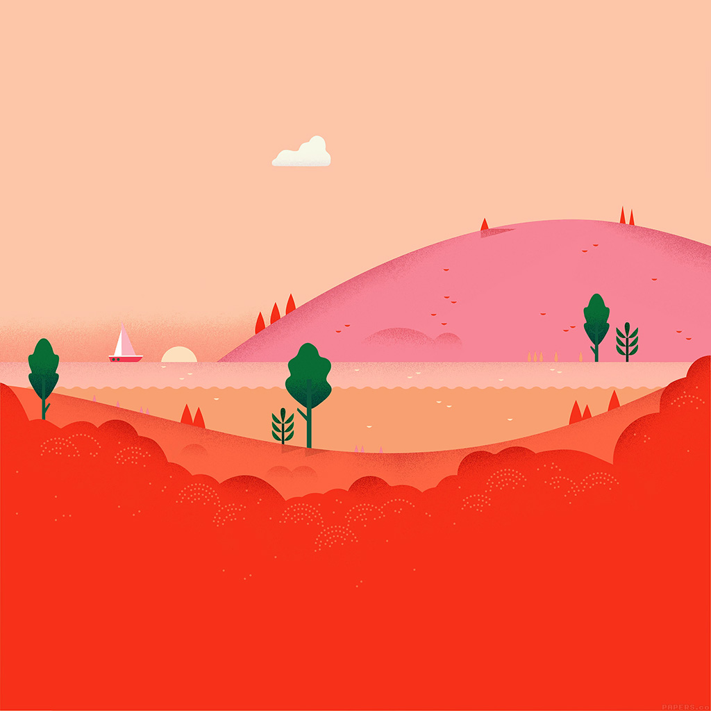 android-wallpaper-ag89-google-lollipop-august-red-mountain-love-wallpaper