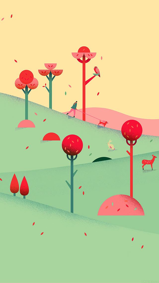 freeios8.com-iphone-4-5-6-plus-ipad-ios8-ag93-google-lollipop-september-fall-mountain-animals